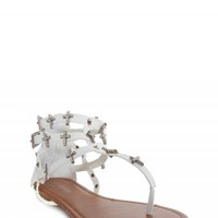 RHINESTONE CROSS SANDALS