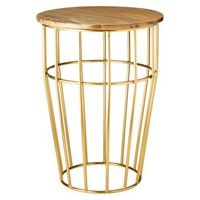 Threshold™ Brass Cage Accent Table