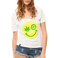 The Tree Happy Scoop Tee in White