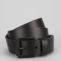 Matte Black Leather Belt - Urban Outfitters