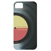 Black Vinyl Record Effect on iPhone 5 Case
