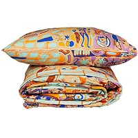 Obus/Check Single Quilt & Pillow Set | Kip & Co
