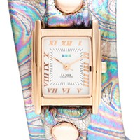 'Oil Spill' Square Wrap Watch