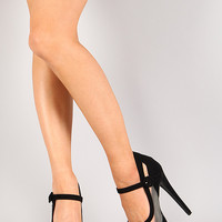 Fiery-4 Strappy Mesh Stiletto Platform Pump
