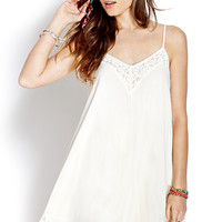 Lace Trim Slip Dress | FOREVER21 - 2000126373