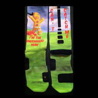 Gingerbread Parody Custom Nike Elite Socks