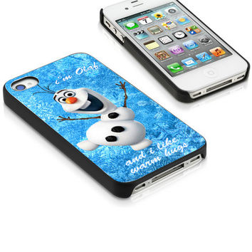 Olaf Warm Hug Design for iPhone 4/4s,5/5s/5c,Samsung S2,S3,S4,Samsung S3 Mini,S4 Mini,iPod 4,iPod 5,Htc one