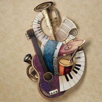 Rhapsody Blues Metal Wall Sculpture