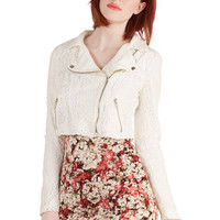 ModCloth 90s Short Long Sleeve Cropped Spontaneous Trek Jacket