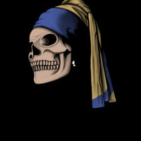 The Skull with a Pearl Earring Art Print by Perdita | Society6