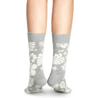 Fun socks for happy people at Happy Socks! HAWAII grey & white sock