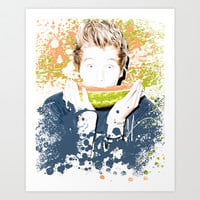 Luke paint splatter Art Print by kikabarros