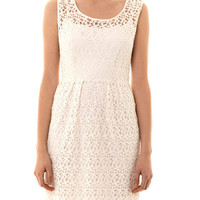 Daisy chain lace dress