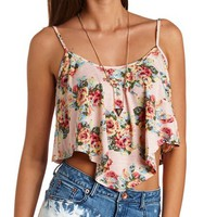 FLORAL PRINT SWING CROP TOP