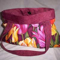 Ladies Handbags Tote Bag Burgundy Handmade Bag Purse