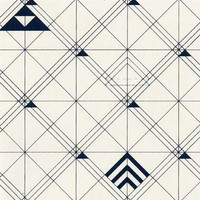 Trellis Wallpaper in Navy design by Cavern Home - 2