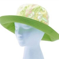 Wo's Reversible Bucket Hat Tulip Green