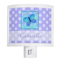 Personalized: Butterfly and Polka-dot Night Light