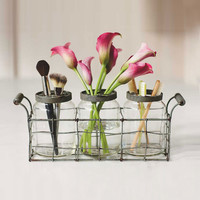 Vintage Jars With Rack