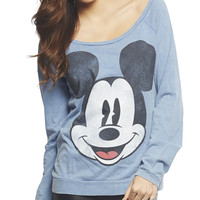 Mickey Mouse Face Sweatshirt | Wet Seal