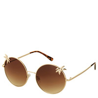 Palm Tree Round Sunglasses