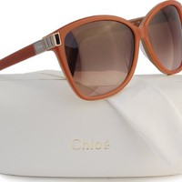 CHLOE CE604S Sunglasses Peach Nude w/Brown Gradient (749) CE 604 749 59mm
