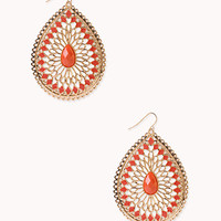 Elegant Cutout Teardrop Earrings