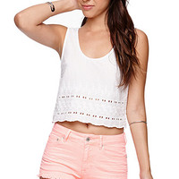 Bullhead Denim Co High Rise 5 Pocket Fray Hem Shorts at PacSun.com