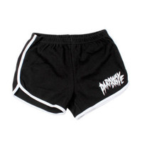 Parkway Drive - Hang Loose Girls Shorts on Black - Women's - Official Merch - Powered by MerchDirect