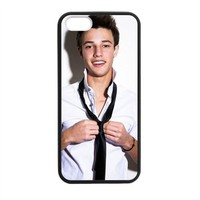 Mayflora Cute Boy Iphone 5 5s Hybird phone case, Hard Back Skin Case Cover with TPU Bumper Frame, Black