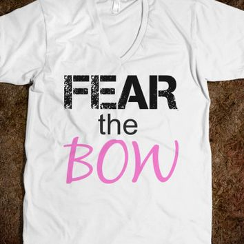 FEAR THE BOW UNISEX V-NECK TEE