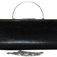 Black Faux Snakeskin 3 Way Day to Evening Bag ~ Converts from Shoulder Bag to Handbag to Clutch