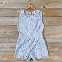 Something Blue Lace Romper