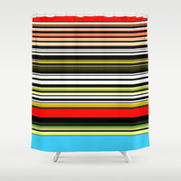 Red, blue and something in between. Shower Curtain by John Medbury (LAZY J Studios)