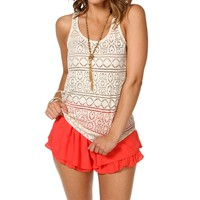 Natural Crochet Racerback Tank
