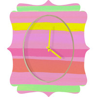 Rebecca Allen My Vacation Quatrefoil Clock