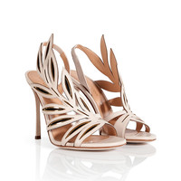 Sergio Rossi - Leather Leaf Sandals