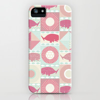 geo whales iPhone & iPod Case by Sharon Turner