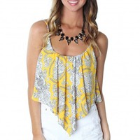 Fancy Flow Print Tank