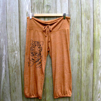 i'm totally serious Tiger Pants, Yoga Pants, Capris, Lightweight Pants, Cropped Pants, S,M,L,XL