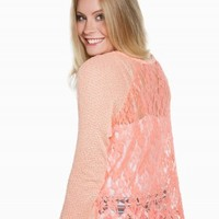BLU PEPPER LACE BACK SWEATER