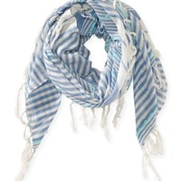 Cross Weave Striped Scarf