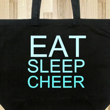 EAT SLEEP CHEER TOTE