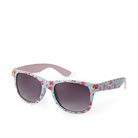 Floral Flush Wayfarer Sunglasses