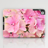 Pink Hydrangeas iPad Case by Lisa Argyropoulos