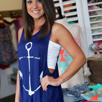 Anchor Muscle Tank {Navy}