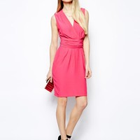 ASOS Sleeveless Wrap Dress With Tulip Skirt