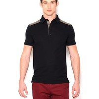 Tommy Hilfiger Two-Tone Wool Polo Shirt- Made in Italy