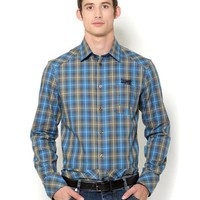 Versace Jeans Plaid Long-Sleeved Shirt - Made in Europe