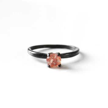 I liked this design on #Fab. Solitaire Ring Sunstone
